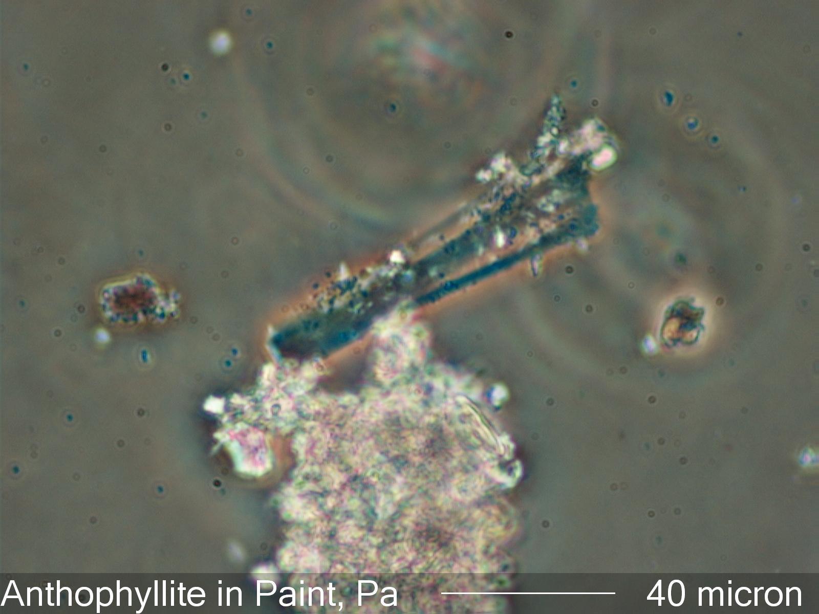 Asbestos Fibers Under Microscope : Anthophyllite under the microscope