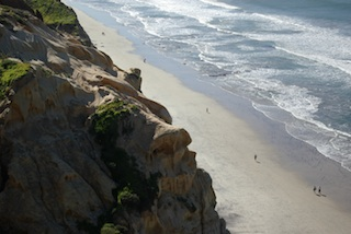 Beach at Torry Pines, California